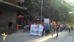 Протест против полициска бруталност во Скопје