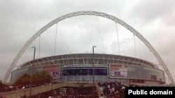 Стадион Уэмбли, где проходила игра Англия-Испания