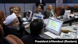 Președintele Hassan Rohani la Comisia Electorală Centrală, Teheran, 19 mai 2017