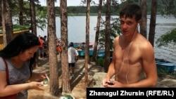 Зона отдыха в курорте Боровое. 22 июня 2013 года.