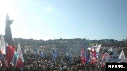 В Омске многолюдные митинги проходят не часто