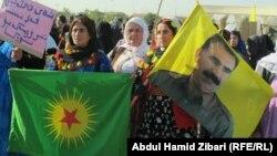 تظاهرة في اربيل لمؤيدين لحزب العمال الكردستاني - من الارشيف