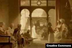 O cafenea la Cairo, secolul XVIII
