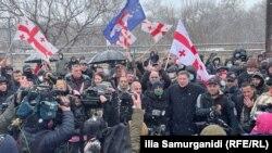 Митинг оппозиции в поддержку Ники Мелия в Тбилиси, 23 февраля 2021 года