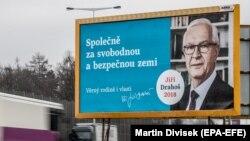 Талапкер Йиржи Драгошту колдогон көрнөк. Прага шаары. 11-январь,. 2018-жыл.