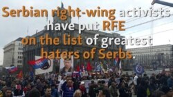 Serbian right wing movement 'Obraz' accuses RFE for anti-Serbian actions