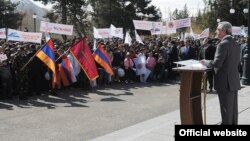 Armenia -- President Serzh Sarkisian holds an election campaign rally in Vayots Dzor province, 13Apr2012.