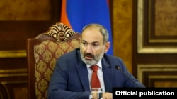 Armenia -- Prime Minister Nikol Pashinian chairs a session of the Anti-Corruption Policy Council, Yerevan, August 30, 2019.