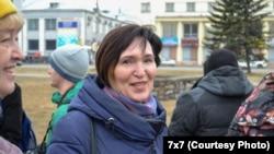 Елена Калинина, активистка из Архангельской области России.