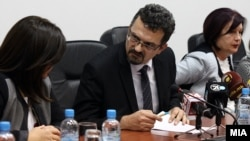 Прес-конференција претседателот на Судскиот совет, Зоран Караџовски во Скопје на 20 октомври 2016