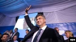 Andrej Plenković i slavlje u stožeru HDZ-a