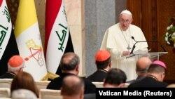 د نړۍ د کاتولیک عیسیویانو مذهبي مشر پاپ فرانسس په بغداد کې