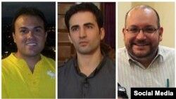 از راست: جیسون رضائیان، امیر حکمتی، سعید عابدینی