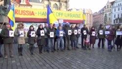 У центрі Праги до Дня Соборності України відбулася акція Stop Putin, Stop War (відео)