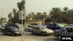 One of Baghdad's busy intersections in November 2009.