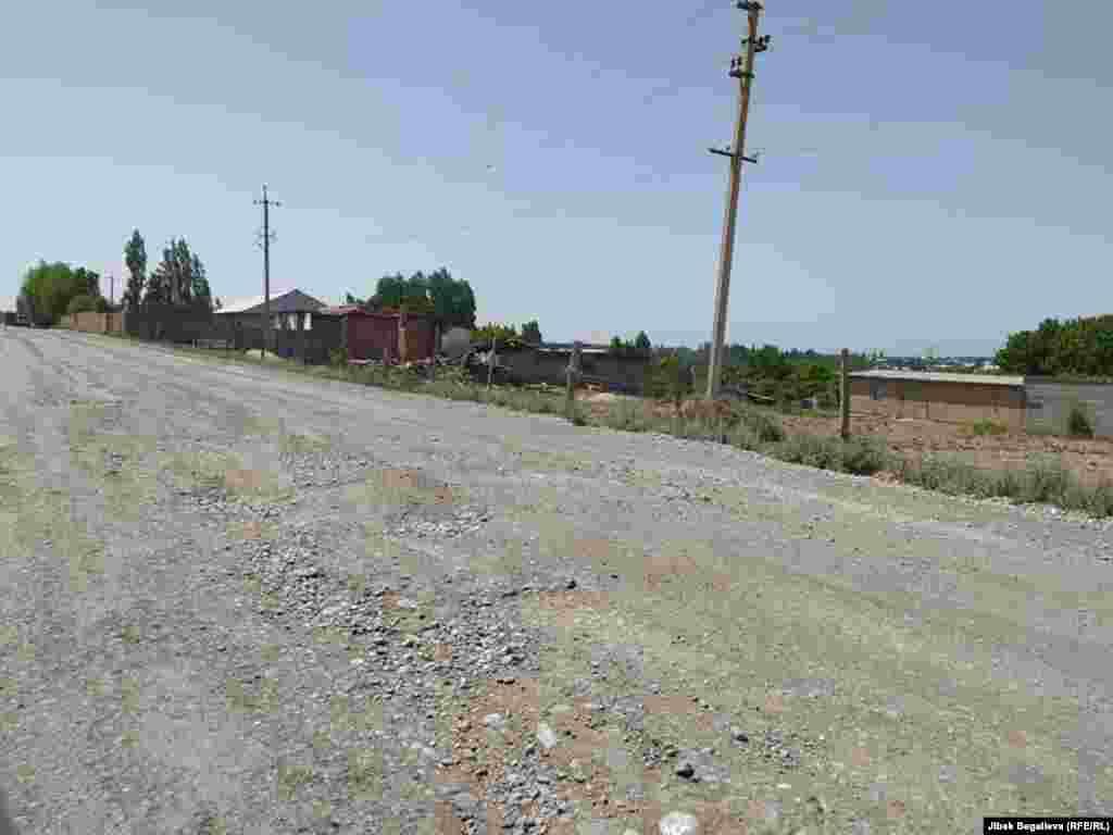 Опустевшая улица в селе Максат. 2 мая 2021 г.