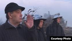 Алексей Герман-старший на съемках своего последнего фильма