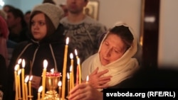 Belarus - Orthodox Christmas Celebrating the Church of the Transfiguration in Minsk, 6Jan2015