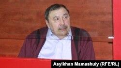 Ержан Утембаев на суде в Каскелене 22 января 2014 года.