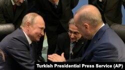 Путин и Эрдоган 19 января 2020 года