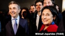 Bidzina Ivanishvili (left) and Salome Zurabishvili -- which one is running for president, again?