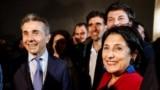 Грузия. Саломе Зурабишвили, победитель первого тура президентских выборов в Грузии. 28.10.2018, Тбилиси
