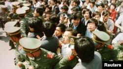 Sheshi Tiananmen, 4 qershor 1989.