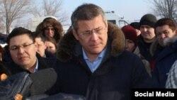 Врио главы Башкортостана Радий Хабиров в Сибае. Январҗ 2019 года