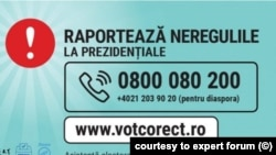 ROMANIA - Call center for presidential election expert forum