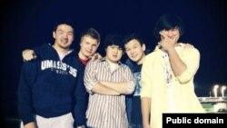 Azamat Tazhayakov (on the far right) has been found guilty of impeding the Boston Marathon bombing probe.