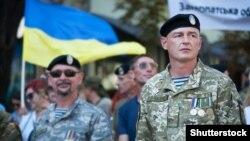 Марш ветеранов в День независимости Украины