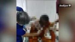 В Андижане мужчина поджег себя на глазах у сотрудников БПИ в знак протеста против конфискации его дома