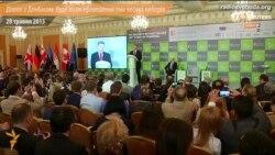 Діалог з Донбасом будемо вести після проведення там чесних виборів – Порошенко