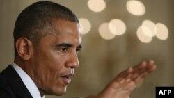 ԱՄՆ-ի նախագահ Բարաք Օբաման ասուլիսի ժամանակ, 5-ը նոյեմբերի, 2014թ․