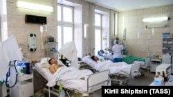 Пострадавшие в одной из больниц Иркутска