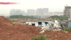 В Шеньчжене целый квартал из-за строителей засыпан землей и грязью