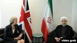 حسن روحانی، رییس جمهوری ایران و ترزا می، نخست وزیر بریتانیا.
