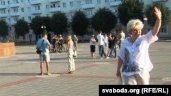 """Belarus - """"Revolution through a social network"""" flash mob in Vitsebsk, 13Jul2011"""