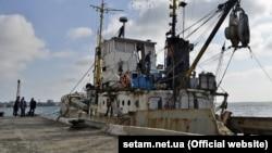 Арестованное рыболовецкое судно «Норд» в порту Бердянска