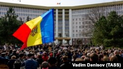 Protest organizat de Blocul ACUM cu ocazia primei ședinte a noului parlament, Chișinău, 21 martie 2019