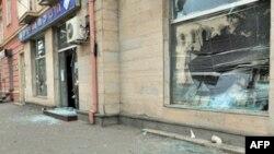 Ulice Gorija nakon ruskog napada na grad.