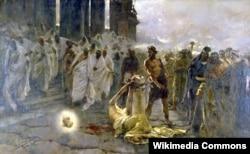 Энрике Симоне. Усекновение главы Святого Павла. 1887