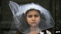 İtaliyalı gənc aktrisa, məcbur ərə verilən 10 yaşlı qız rolunda,Roma 27 oktyabr 2016