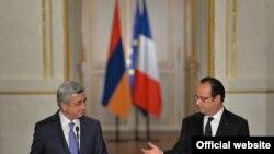 Serzh Sargsyan və Francois Hollande