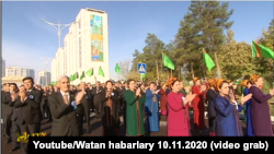 "Церемония открытия монумента ""Туркменский алабай"""