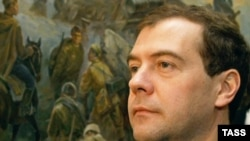 Dmitry Medvedev has pledged to rebuild the military.