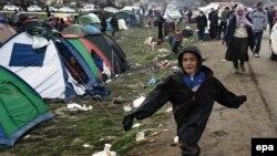 Izbeglički kamp u grčkom, pograničnom mestu Idomeni