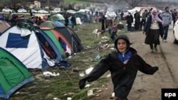 Izbeglički kamp u mestu Idomeni