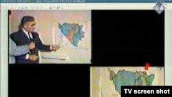 TV Pale: Krajišnik nad kartom govori o Orašju