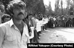 Акция протеста в Судаке. 1990 год. Фото Рифхата Якупова